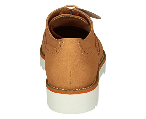 Richelieus Hogan pour femme en cuir Orange - Code modèle: HXW2590R3207UTG618 Orange clair