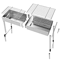 yfkjh Yfkjhstainless Steel Folding Grill, Charcoal Grill For Home Picnic Picnic Grill 48 * 23 * 42Cm / 9 * 19 * 16.5In