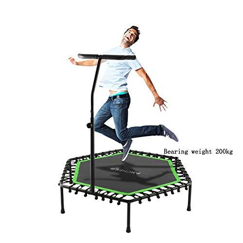 FLY FLU Cross Jump Trampolin,Fitness-Trampolin Indoor/Outdoor Klappbar 3-Fach Höhenverstellbarer Haltegriff, Nutzergewicht Bis 200kg, Trampolin Für Jumping Fitness,A