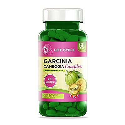 Garcinia Cambogia Ultra Strong Diet Pills-Appetite Suppressant-Ultimate Weight Loss Supplement-UK Manufactured-60 Veggie Capsules-100% Pure-Powerful Premium Quality Natural Fat Burner by Life Cycle®