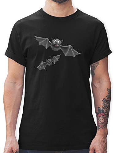 Halloween - süße Fledermäuse - L - Schwarz - L190 - Herren T-Shirt und Männer Tshirt
