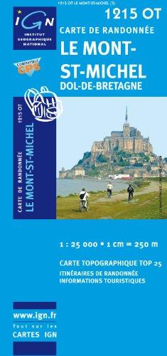 Le Mont-St-Michel/Dol-de-Bretagne: IGN.1215OT - Carte de randonnée