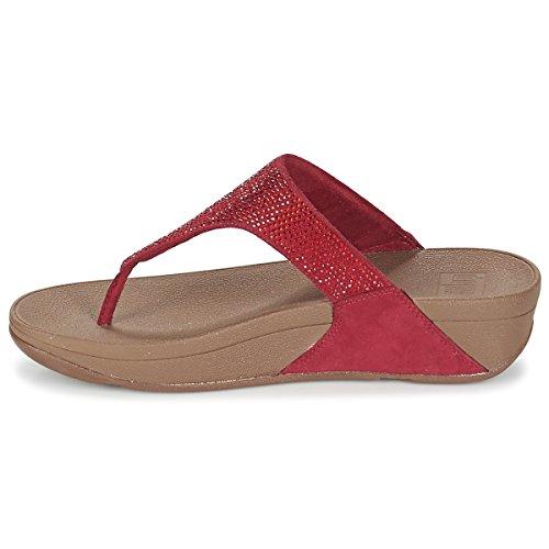 FitFlop Slinky Rokkit Toe-post, Sandales à talon femme Coquelicot Rouge