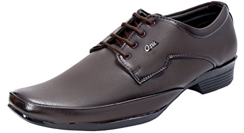 Marshal Onil Men's Brown Synthetic Leather Lace Up Formal Shoes 9 UK