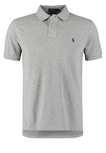 Ralph Lauren Herren Poloshirt, Einfarbig Grau