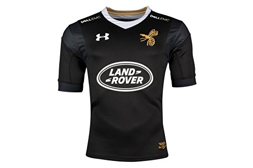dd31b553eb8 Under Armour Wasps 2017/18 Home S/S Replica Rugby Shirt – Black/Gold – Size  S