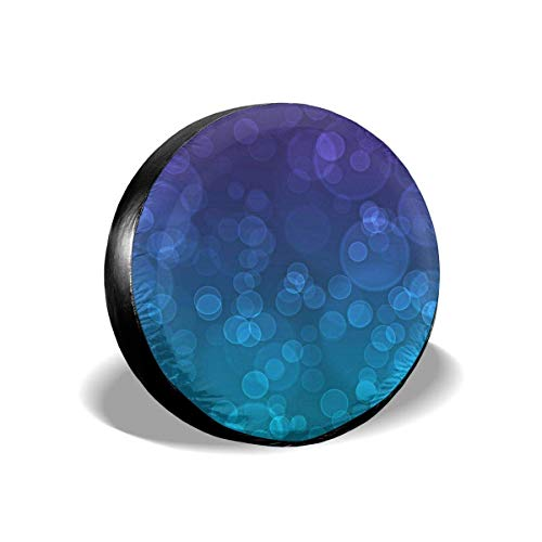 Tire Cover New Purple and Teal Wallpaper Potable Polyester Universal Spare Wheel Tire Cover Wheel Covers for SUV Truck Camper Travel Trailer Accessories(14,15,16,17 Inch) 15