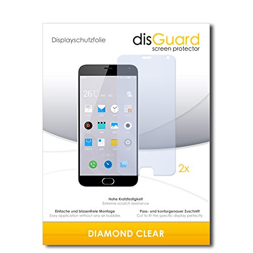 2 x disGuard® Bildschirmschutzfolie Meizu M2 Note Schutzfolie Folie