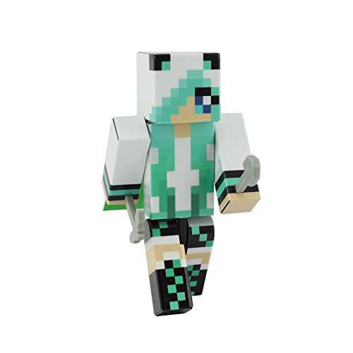 Panda Girl (Teal) - Pixelaction Figure by EnderToys - Ein Spielzeug aus Plastik (Teil Teal)
