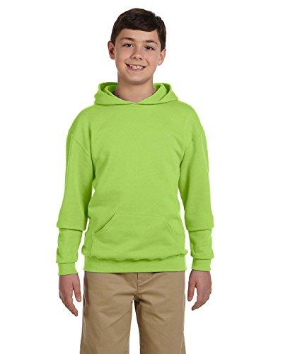 Jerzees-baumwolle-pullover (Youth 8 oz. NuBlend� Fleece Pullover Hood NEON GREEN S)