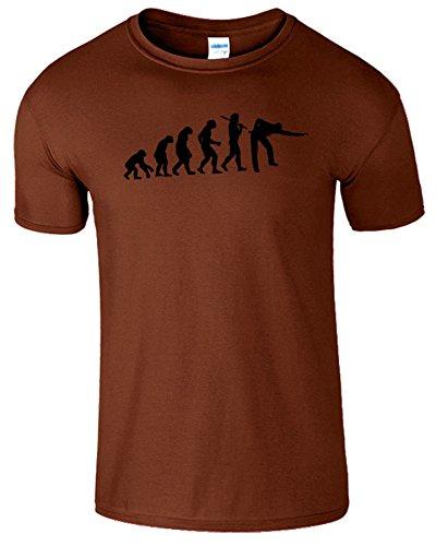 Evolution Of Snooker Herren T Shirt Schwimmbad Komisch Spiel Kastanie / Schwarz Design