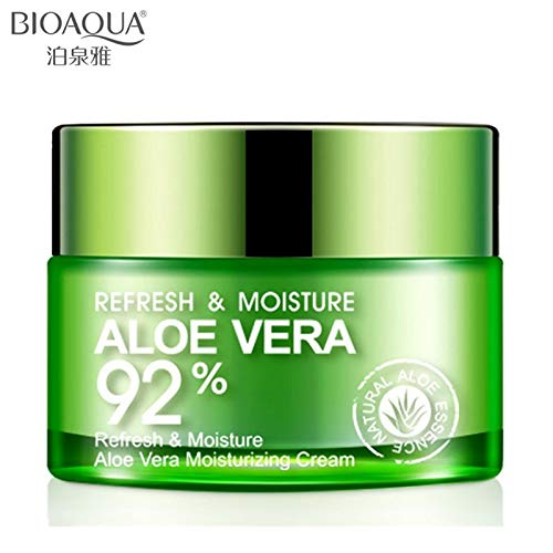 Tyro BIOAQUA Aloe Vera Gel Face Cream Whitening Deep Hydrating Moisturizing Face Cream Anti Wrinkle Anti-Aging Day Cream 50g