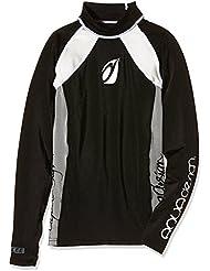 Aquadesign - Allee - T-shirt lycra manches longues - noir/blanc - 12 ans
