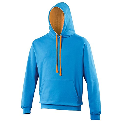 Varsity hoodie Burgundy-Gold AWDis Hoods Streetwear Felpa Cappuccio Uomo Sapphire Blue/ Orange Crush*