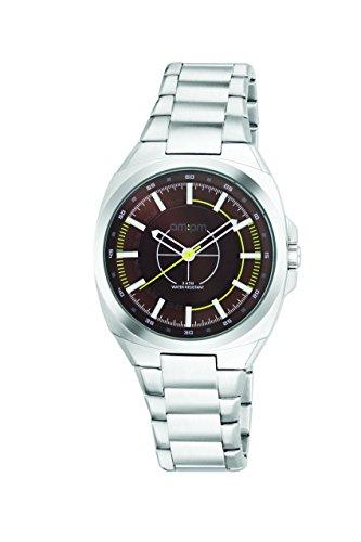 AM:PM Unisex-Armbanduhr PG117-U091 Stahl Gehäuses Silber Stahl Armband Quartz