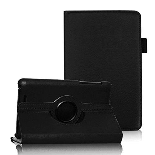 COOVY® Cover für Google ASUS Google Nexus 7 (1. Generation Model 2012) Rotation 360° Smart Hülle Tasche Etui Case Schutz Ständer Auto Sleep/Wake up | Farbe schwarz (Google 7 Smart-case Nexus)