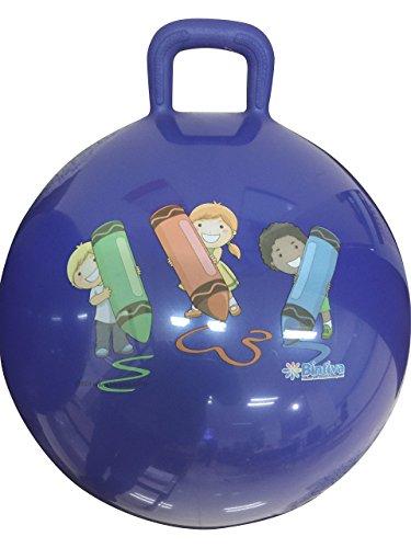 bintiva Hippity Hop 45cm incluye bomba de pie, para niños a partir de...