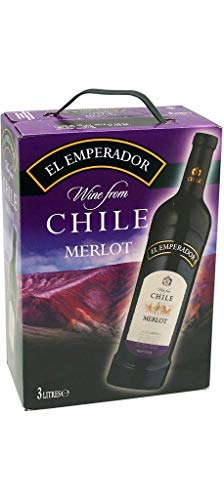 BIB EL EMPERADOR Merlot Vin Rouge du Chili Santa Lucia 3 L