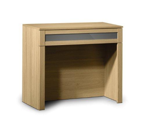 Julian Bowen Strada Dressing Table, Light Oak/Grey