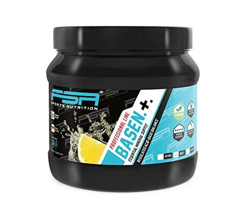 Basenpulver 300g mit Zitronengeschmack und Stevia der deutschen Profisport Marke FSA Nutrition® | Zinkbisglycinat, Magnesiumbisglycinat, Kalium, Calcium, Kieselerde | Säure-Basen-Kur, Basenfasten