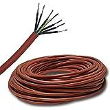 Câble en silicone de 5 m - Pour, par ex., sauna - SIHF 7 x 1,5 mm2