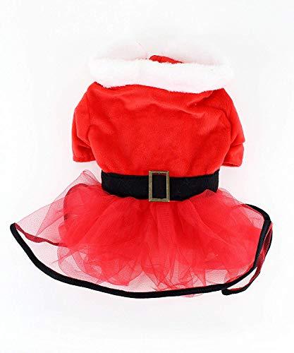 Midlee Mrs. Claus Santa Tutu Hund Kleid, Small Velvet Holiday-outfit