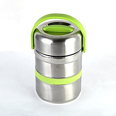 FOOD JIA Aislamiento de vacío de acero inoxidable de gran capacidad almuerzo caja Bento caja 1.8 l 2,6 L , a ,