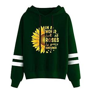 Toasye IN EINER Welt Aber BEI Roses Langarm-Blumenpullover für Damen Hoodie Sweatshirt Kapuzenpullover Tops Bluse Herbst Winter Kapuzenpullover
