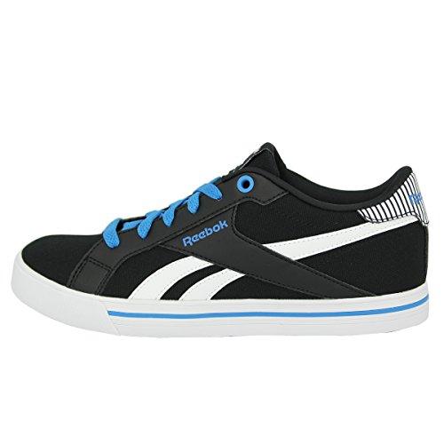 Reebok Jungen Royal Comp Low Cvs Turnschuhe Schwarz / Blau / Weiß (Schwarz / Elektro - Blau / Weiß)