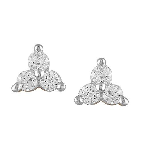 Giantti 14carats Diamant pour femme Boucles d'oreille à tige (0,27CT, VS/Si-clarity, Gh-colour)