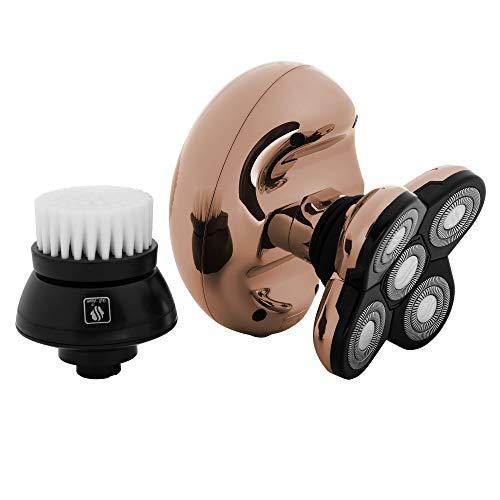 Skull Shaver Butterfly Kiss Damen rasierapparat elektrisch - Damenrasierer Elektrisch für Arme, Beine und Bikini (mit USB-Ladekabel) (Rosegold)