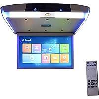 Hahaiyu Techo del Monitor del Techo del automóvil Montaje en el Techo Bajar Diaplay 15.6 Pulgadas Android 6.0 HD 1080P Video IPS Pantalla WiFi/HDMI/USB/SD/FM/Bluetooth/Altavoz,Black