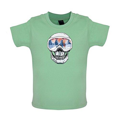 Totenkopf - Skimaske - Baby T-Shirt - Mintgrün - 12 bis 18 Monate