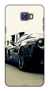 Blutec Black Car Design 3D Printed Hard Back Case Cover for Samsung Galaxy C7 Pro