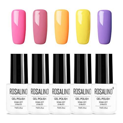 ROSALIND 5 * 7 ml colores serie esmalte uñas gel