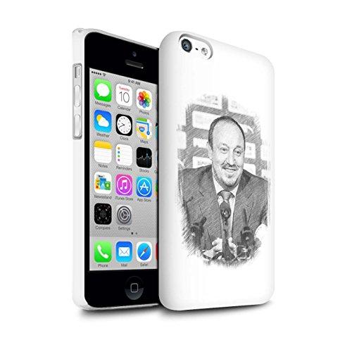 Offiziell Newcastle United FC Hülle / Glanz Snap-On Case für Apple iPhone 5C / Pack 8pcs Muster / NUFC Rafa Benítez Kollektion Skizze