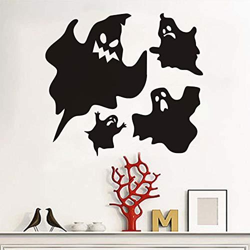 Hallowmas Beliebte Vinyl Abnehmbare Black Ghost Wandaufkleber Halloween Dekorationen DIY Wandtattoos Dekoration Zubehör 44x40 cm