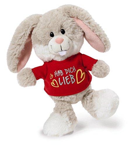 Nici 40159.0 – Love Hase mit T-Shirt Hab Dich lieb 20 cm Schlenker