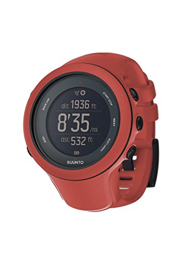 SUUNTO WOMEN'S AMBIT3 50MM SILICONE BAND STEEL CASE QUARTZ WATCH SS021468000
