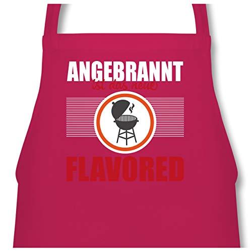 Shirtracer Grill - Angebrannt ist das neue Flavored Grill - 60 x 87 cm (B x H) - Fuchsia - PW102 - Kochschürze für Männer und Damen -