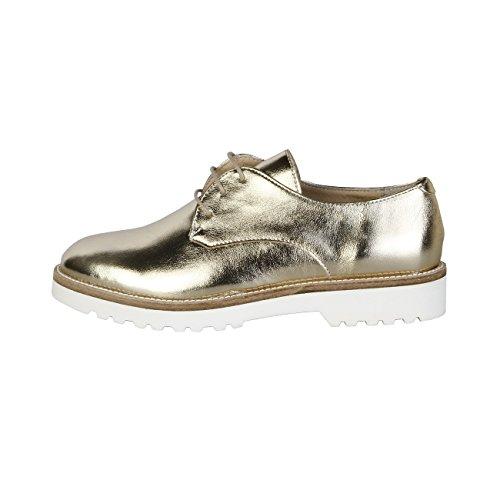 Made In Italia - NINA Derby Chaussures De Ville À Lacets Femme Talon 2.5 cm Jaune