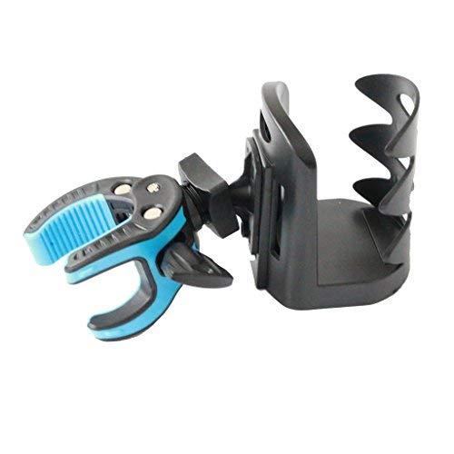 Fretfunk Plektrenhalter Mikrofon Ständer Getränkehalter, schwarz/blau
