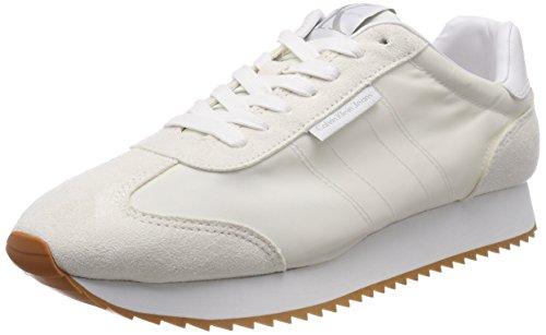 Calvin Klein Jeans Graph Nylon/Suede, Scarpe da Ginnastica Basse Uomo, Bianco (Ofw 000), 44 EU