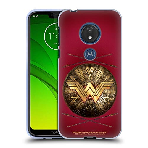 Head Case Designs Ufficiale Wonder Woman Movie Scudi E Frecce Logo Cover in Morbido Gel Compatibile con Motorola Moto G7 Play