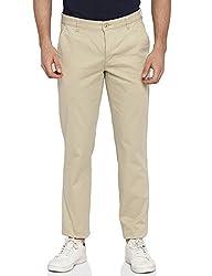 Park Avenue Mens Slim Fit Cotton Casual Trousers (PCTF00166-F4_Medium Fawn_36W x 33L)