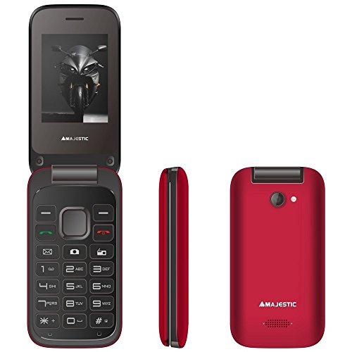 Majestic TLF Lucky 61Flip. Dual Sim Handy GSM mit LCD Display 2.4A Farben rot Gsm Flip Handy