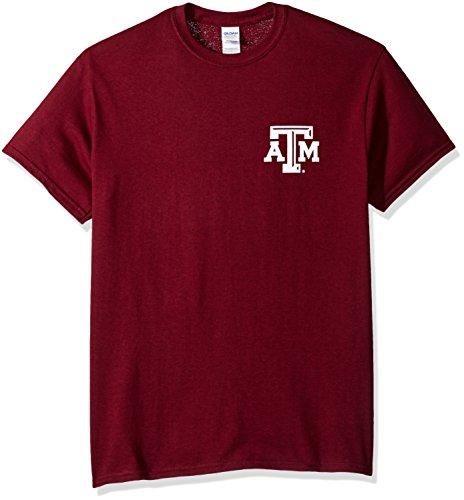 New World Grafiken Texas A & M NCAA Stripe Nation Short Sleeve, Unisex, Texas A&M Stripe Nation, kastanienbraun Texas A&m University Atm