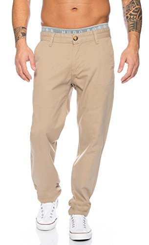 Rock Creek Herren Chino Hose Herrenhose RC-2083 [Sand W40 - Jeans-rock Lang