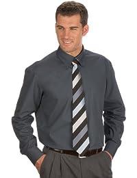 QUALITYSHIRTS Langarm Uni Hemd Button Down Gr. 39 - 54