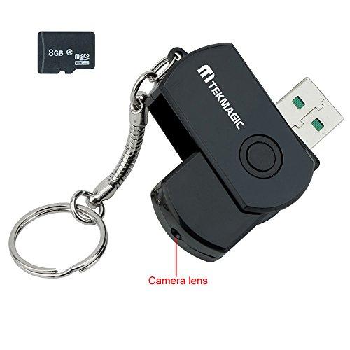 TEKMAGIC 8GB Mini Cámara Espía Unidad Flash USB DV Videocámara Port
